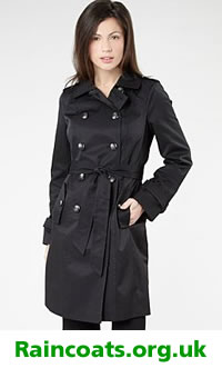 Ladies Black Raincoat