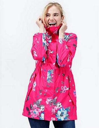 Pink floral print ladies parka