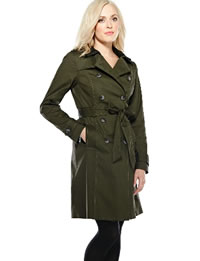 Dark green ladies raincoat